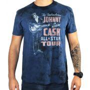 Camiseta American Eagle Azul Johnny Cash