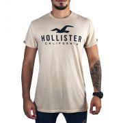 Camiseta Hollister Gráfica Bege