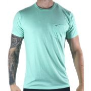 Camiseta Hollister Verde Básica C/ Bolso