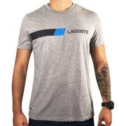 Camiseta Lacoste Cinza Básica