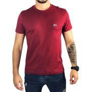 Camiseta Lacoste Vinho Básica