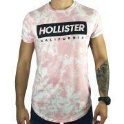 Camiseta Hollister Gráfica Rosa
