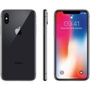 "iPhone X Cinza-Espacial 64GB Tela 5.8"" IOS 11 4G Wi-Fi Câmera 12MP - Apple"