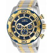 Relógio Invicta Pro Diver 26296 Banhado Ouro 18k
