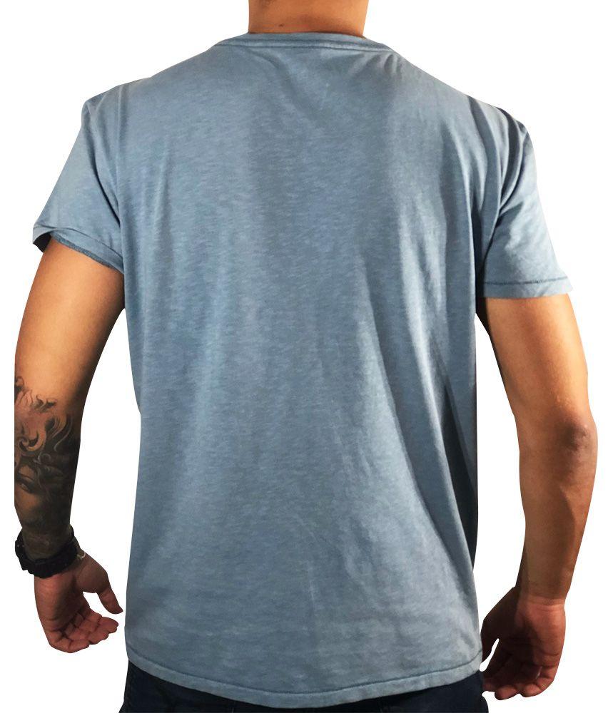 Camiseta American Eagle Azul Básica