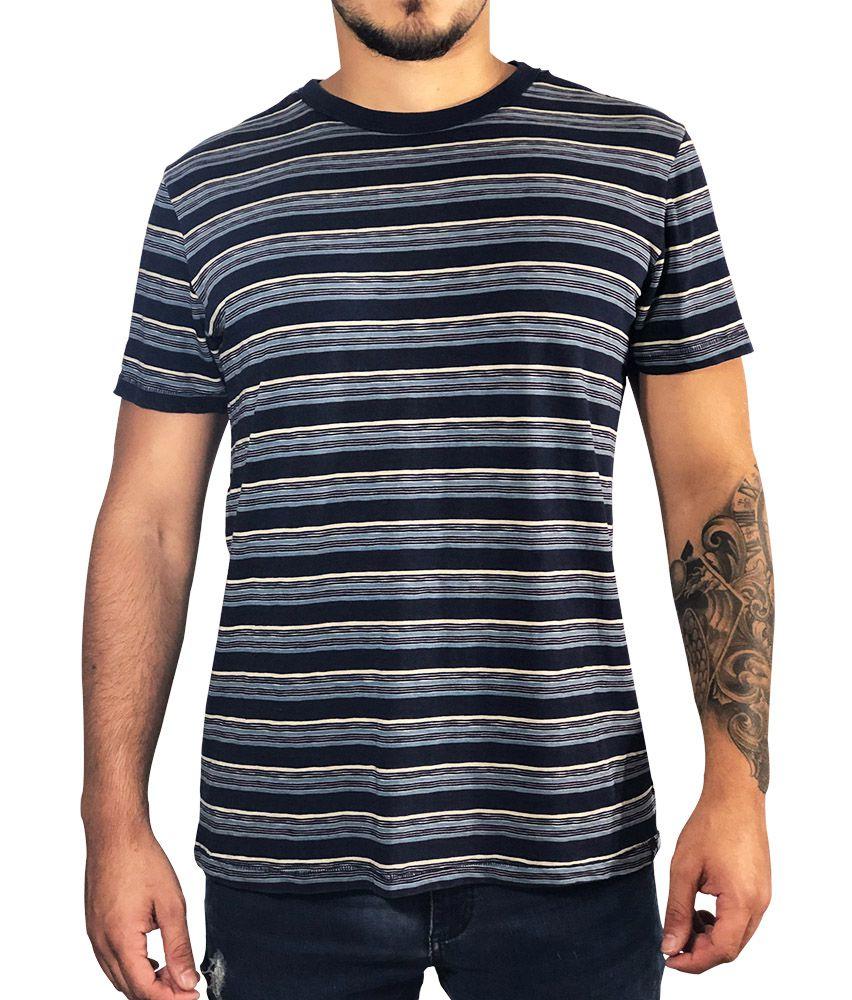 Camiseta American Eagle Azul Com Listras