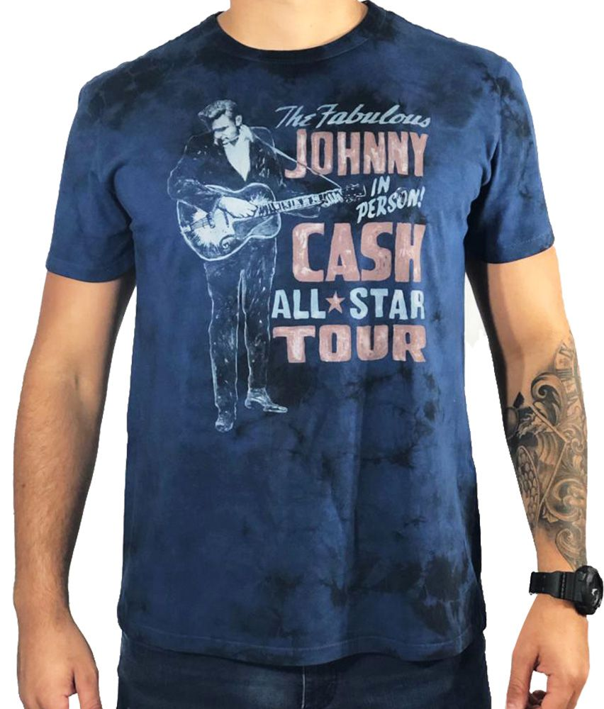 Camiseta American Eagle Azul Johnny Cash