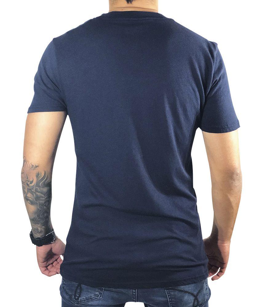 Camiseta Hollister Azul-Marinho Básica
