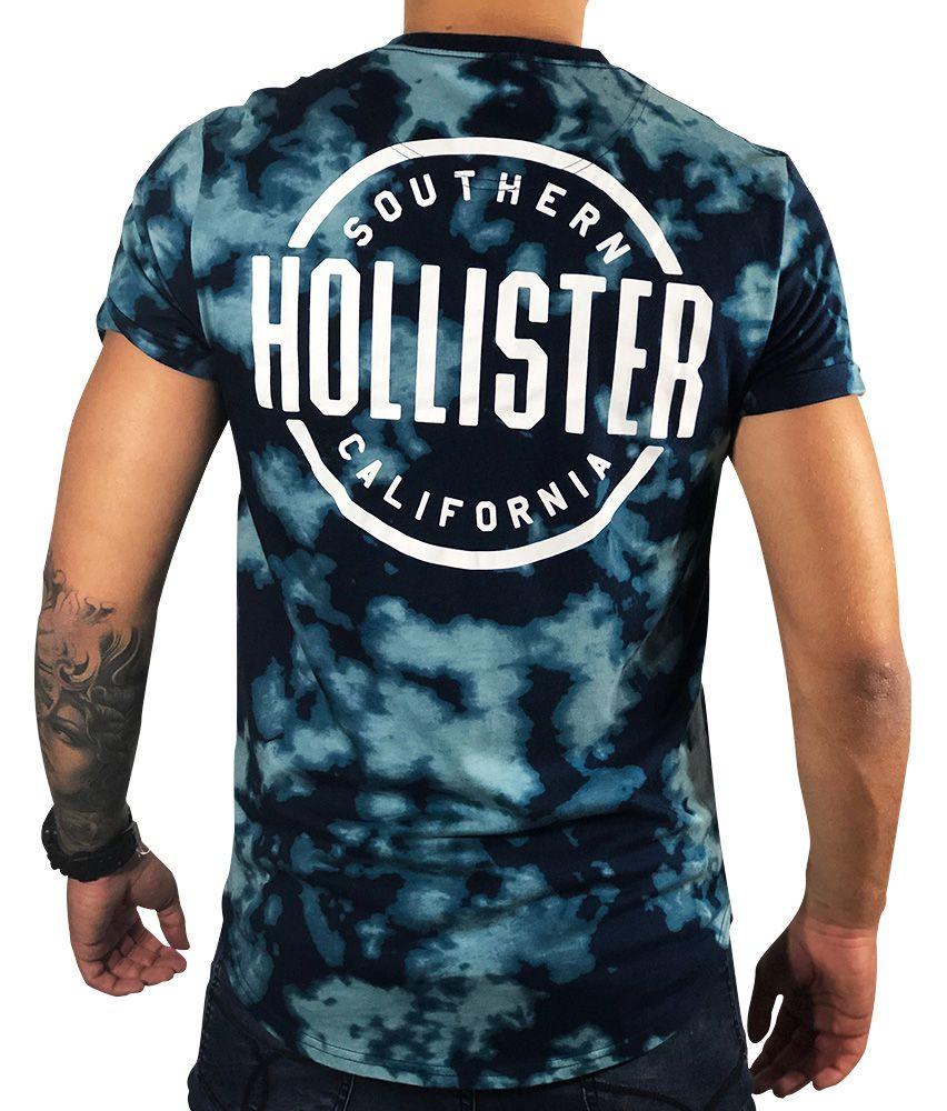 Camiseta Hollister Gráfica Azul