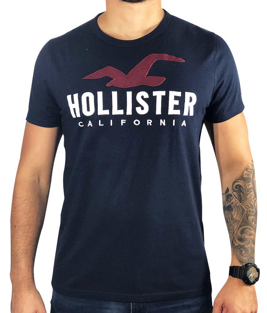 Camiseta Hollister Gráfica Azul-Marinho