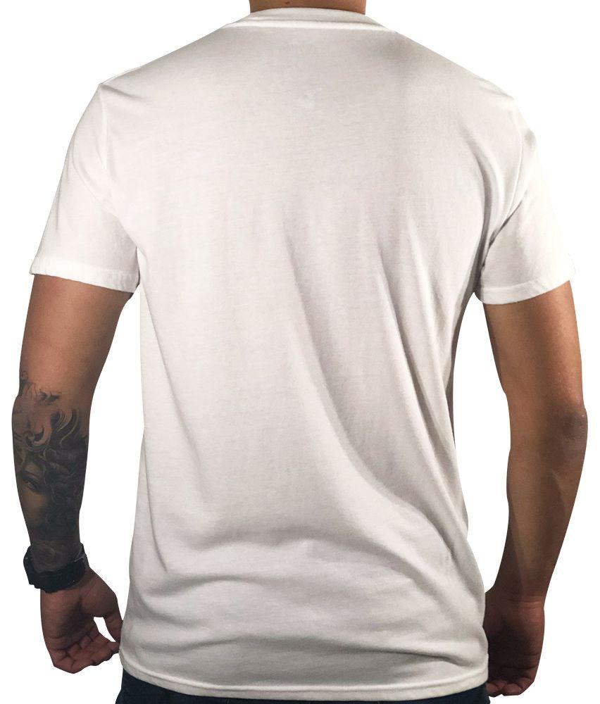 Camiseta Hollister Gráfica Branca