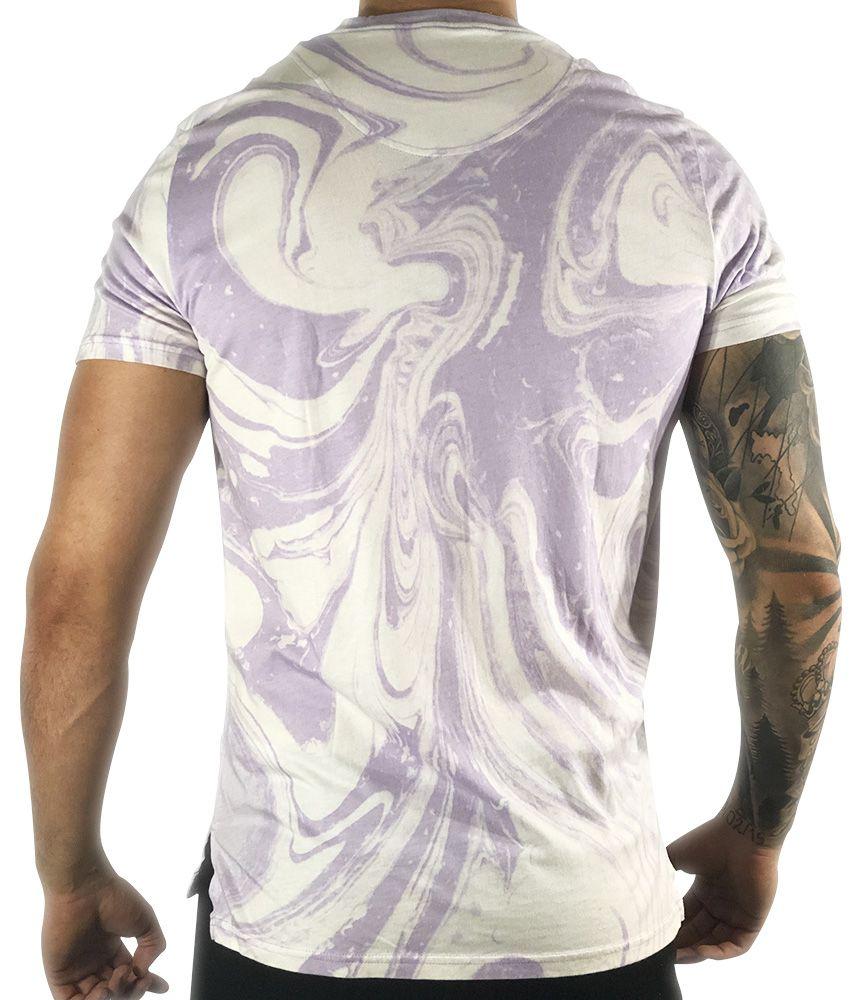Camiseta Hollister Gráfica Branca/Roxa California