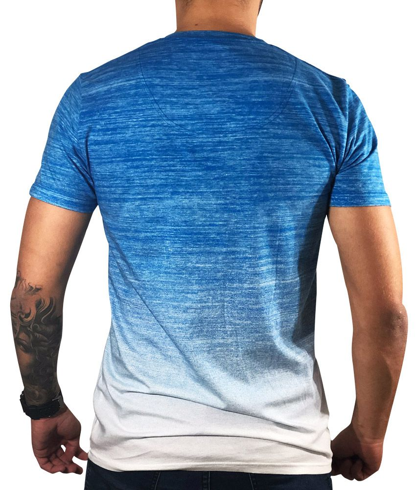 Camiseta Hollister Manga Curta Azul
