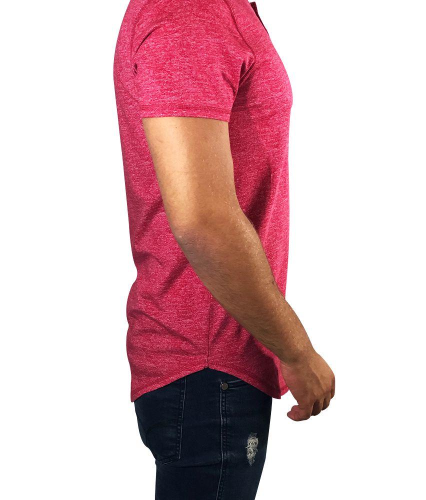 Camiseta Hollister Manga Curta Vermelha