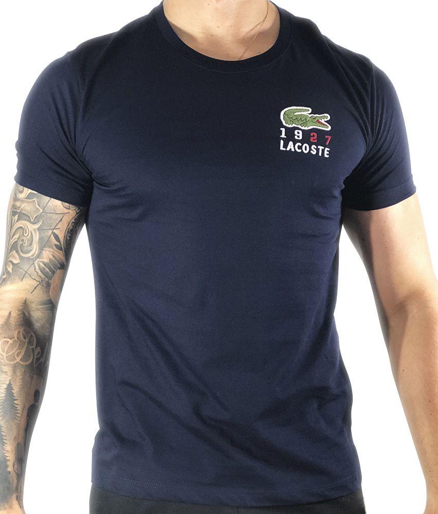c6953cf58ac Camiseta Lacoste Básica Azul-Marinho - Pura Vida Store - Moda ...