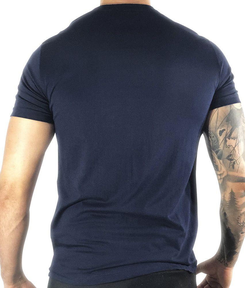 Camiseta Lacoste Básica Azul-Marinho