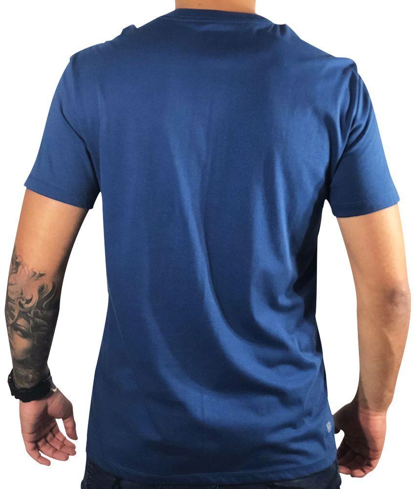 Camiseta Lacoste Estampada Azul
