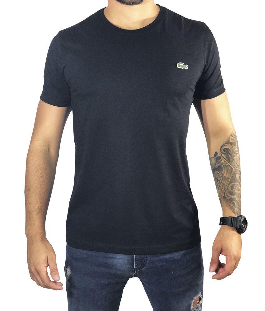 426bb4582 Camiseta Lacoste Preto Básica - Pura Vida Store - Moda Masculina ...