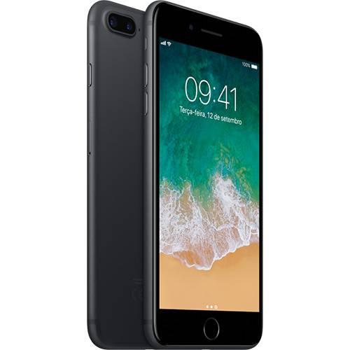 "IPhone 7 Plus 128GB Preto Matte Tela Retina HD 5,5"" 3D Touch Câmera Dupla de 12MP - Apple"