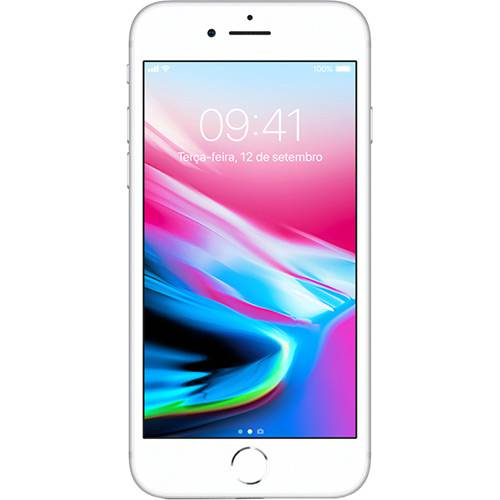 "iPhone 8 Plus Prateado 64GB Tela 5.5"" IOS 11 4G Wi-Fi Câmera 12MP - Apple"