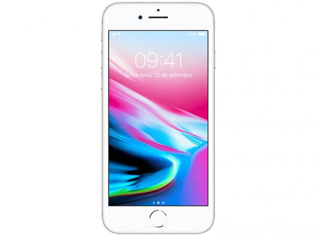 "iPhone 8 Prateado 64GB Tela 4.7"" IOS 11 4G Wi-Fi Câmera 12MP - Apple"
