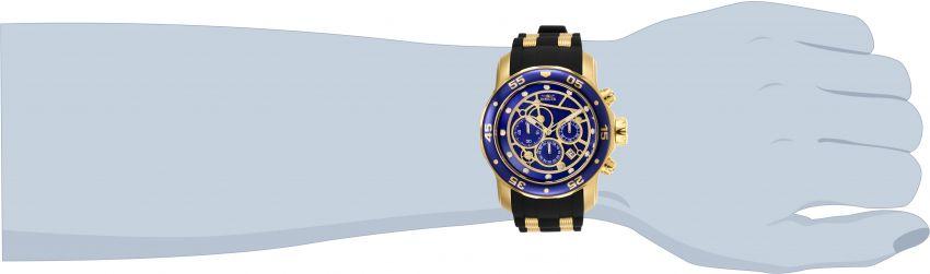 Relógio invicta 25707 Banhado Ouro 18K