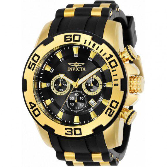 Relógio Invicta Pro Diver 22340 Banhado Ouro 18k