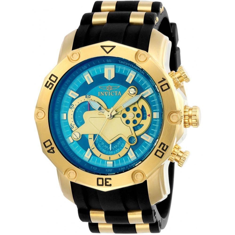 Relógio invicta Pro Diver 50mm 23426 Banhado Ouro 18K