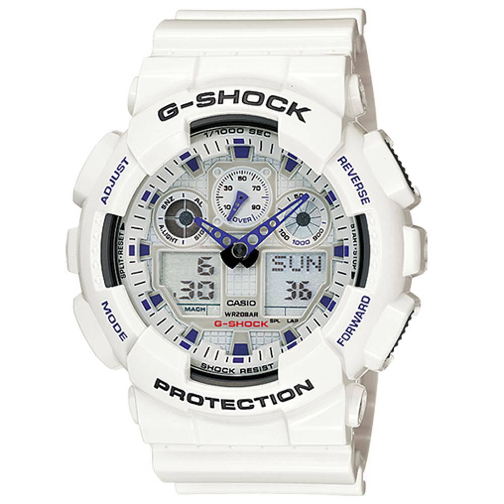 Relógio Masculino Casio G-Shock Ga-100a-7a 48mm Branco