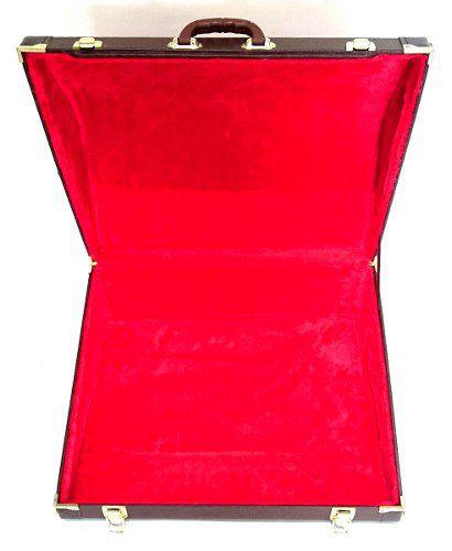 Case Para Acordeon 80 Baixos Extra Luxo Pelúcia Vermelha