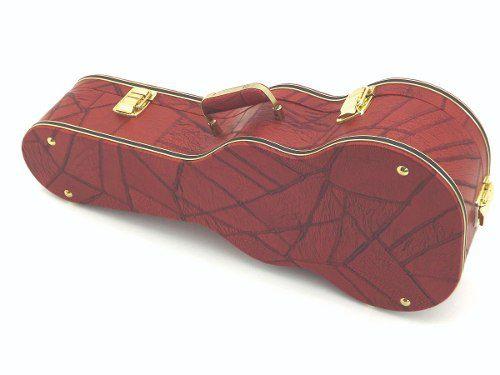 Case Para Cavaquinho Extra Luxo Vermelho Com 3 Fechos