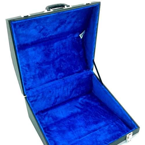 Case Térmico Para Acordeon 120 Baixos Luxo Pelúcia Azul