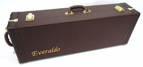 Case Violino Retangular 4/4 Extra Luxo Fundo Falso Bordado