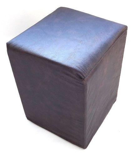Puff Em Courino 45x36x36 Cm - Suporta Até 120kg