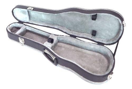 Estojo Case Para Violino 4/4 Pelúcia Cinza Luxo