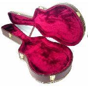 Case Para Guitarra Semi Acústica Extra Luxo Pelúcia Vinho