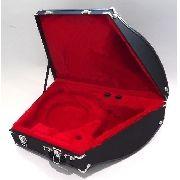 Estojo Case Para Trompa Super Luxo Pelúcia Vermelha