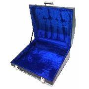 Estojo Case Para Acordeon 120 Baixos Luxo Pelucia Azul