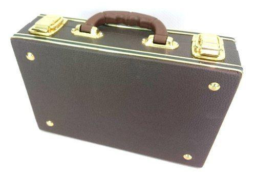 Estojo Case Para Clarineta Desmontada Luxo Marrom Fama