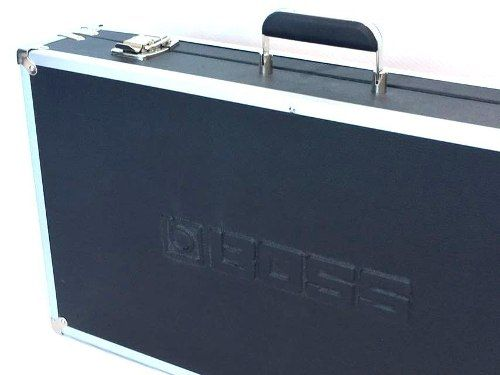 Case Pedais Pedaleira Logo Boss Alto Relevo Luxo Alumínio