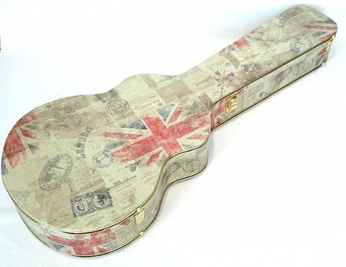 Case Para Guitarra Semi Acústica Tema Inglaterra Caramelo