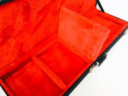 Case Para Guitarra Les Paul Strato Pelúcia Vermelha