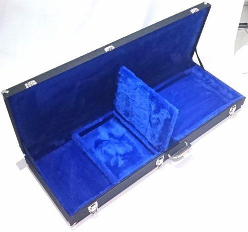 Estojo Case Para Guitarra Strato Fender Lespaul Azul Fama