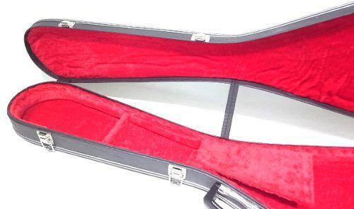 Estojo Case Para Guitarra Flying V Luxo Pelúcia Vermelha