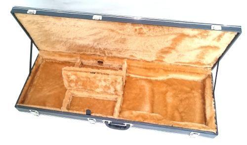 Case Guitarra Les Paul Strato Sg Fender Tagima Luxo Pelúcia Caramelo
