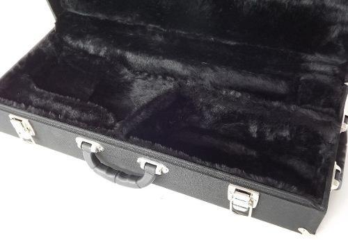 Estojo Case Top Para Sax Alto Standard Pelúcia Preta