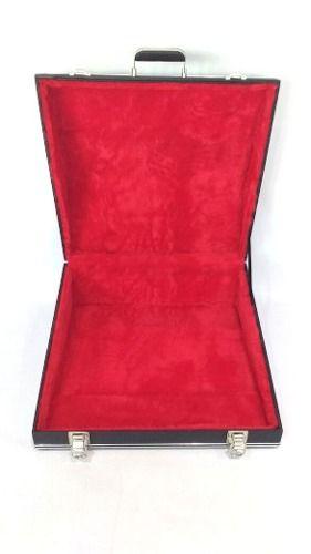 Estojo Case Para Acordeon 120 Baixos Luxo Pelucia Vermelha