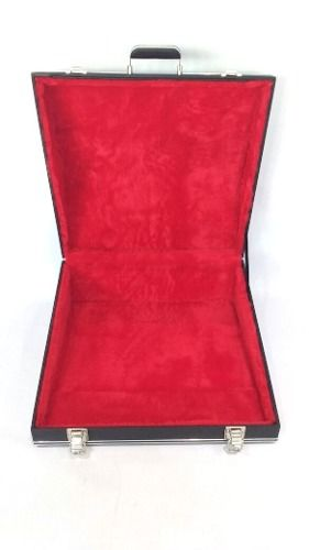 Estojo Case Para Acordeon 80 Baixos Luxo Pelucia Vermelha