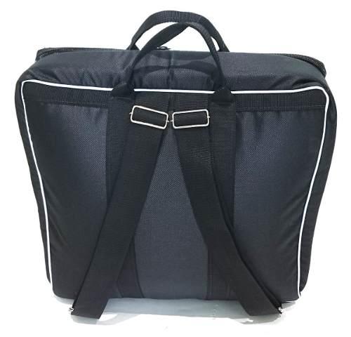 Capa Bag Para Acordeon 80 Baixos Master Luxo Vivo Branco