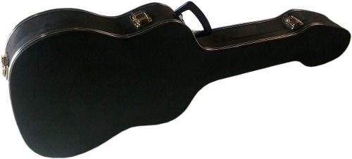 Estojo Case Para Guitarra Strato Luxo Pelucia Rosa Fama